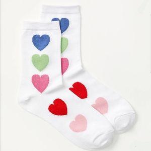 ⚜ Ann Taylor LOFT heart shimmer socks